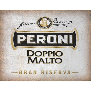 Peroni Dopplo Beer vintage alcohol metal tin sign poster