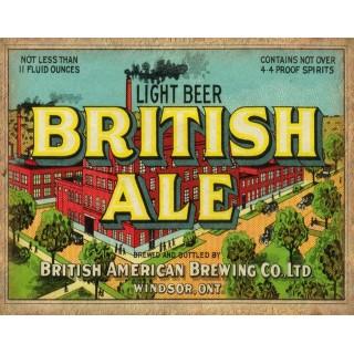 Light Beer British Ale vintage alcohol metal tin sign poster