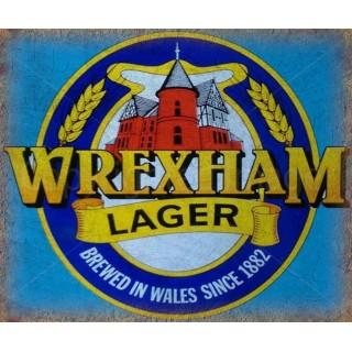 Wrexham Lager Beer vintage alcohol metal tin sign poster