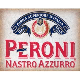 Peroni Beer vintage alcohol metal tin sign poster