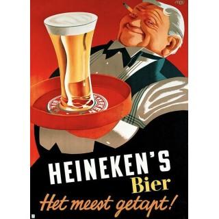 Heinekens Beer vintage alcohol metal tin sign poster