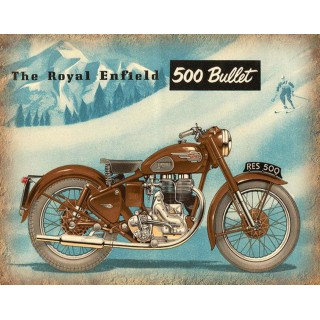 Royal Enfield Bullet 500 motorcycle vintage metal tin sign poster wall plaque