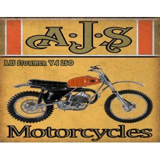 ajs-stormer-y4-250-motorcycle-vintage-metal-tin-sign