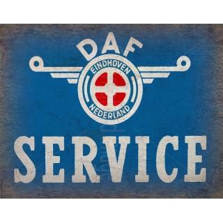 daf-service-vintage-metal-tin-sign-wall-plaque