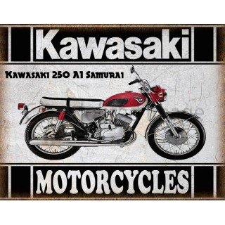 kawasaki-250-a1-samurai-motorcycle-metal-tin-sign