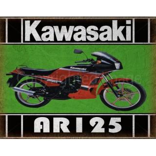 kawasaki-ar-125-samurai-motorcycle-tin-metal-sign