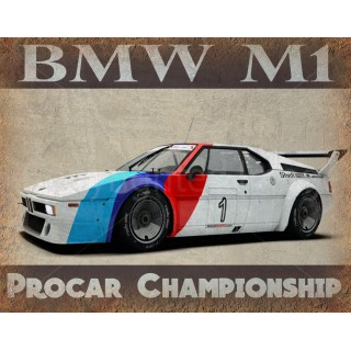 bmw-m1-procar-vintage-metal-tin-sign