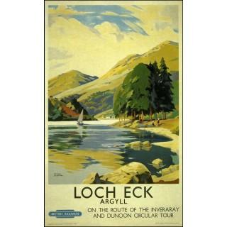 Loch Eck Agryll British Railways metal tin sign poster