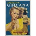 Aperitivo Gincana vintage alcohol metal tin sign poster