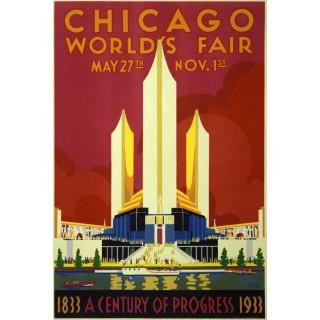 chicago-worlds-fair-1933-vintage-travel-metal-sign