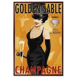 golden-sable-champagne-vintage-metal-sign