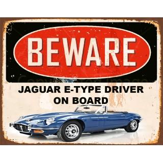 jaguar-e-type-tin-sign
