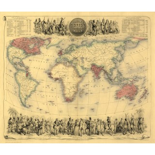 british-empire-in-1855-vintage-map-metal-sign