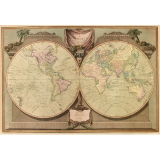 map-of-the-world-in-1808-metal-sign