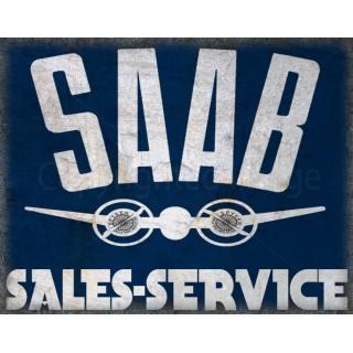 saab-sales-service-metal-sign