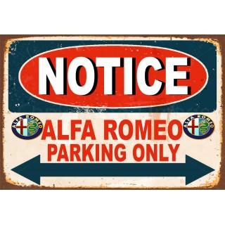 notice-alfa-romeo-parking-only-metal-tin-sign