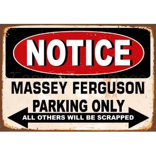 notice-massey-ferguson-parking-only-metal-tin-sign