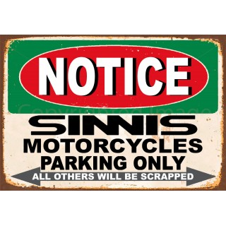 notice-sinnis-motorcycle-parking-only-metal-tin-sign