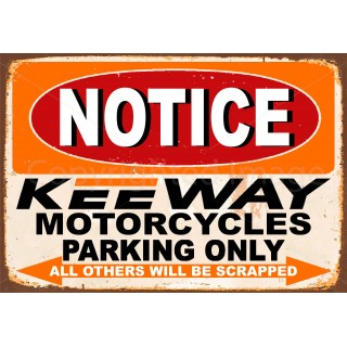 notice-keeway-motorcycle-parking-only-metal-tin-sign