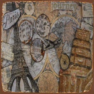 French Travel metal tin signs