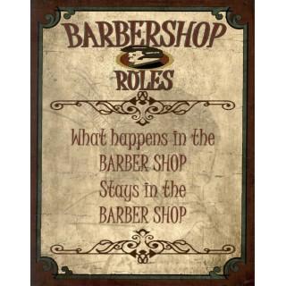 Vintage Barber Shop metal tin signs