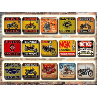 Motorcycles Tin Sign Wall Clocks