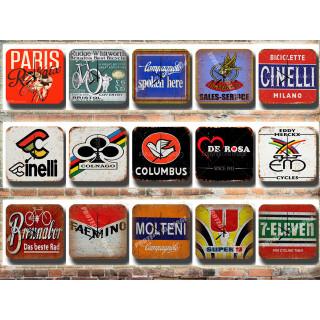 Vintage Cycling Tin Sign Wall Clocks