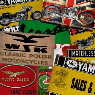 Motorcycle Tin Signs