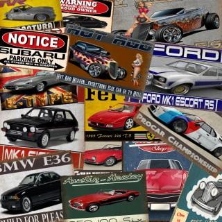 Car Tin Signs