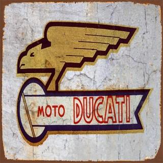 Ducati motorcycle metal tin signs