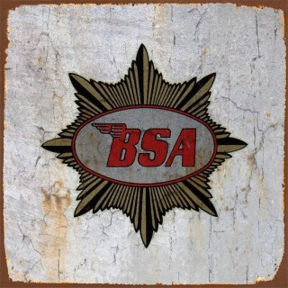 BSA motorcycle metal tin signs