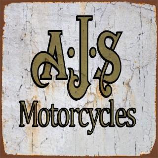 AJS motorcycle metal tin signs